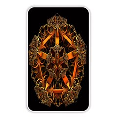 3d Fractal Jewel Gold Images Memory Card Reader by Simbadda