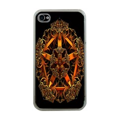 3d Fractal Jewel Gold Images Apple Iphone 4 Case (clear) by Simbadda