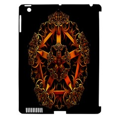3d Fractal Jewel Gold Images Apple Ipad 3/4 Hardshell Case (compatible With Smart Cover) by Simbadda
