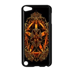 3d Fractal Jewel Gold Images Apple Ipod Touch 5 Case (black) by Simbadda
