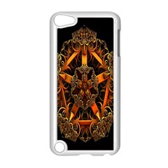 3d Fractal Jewel Gold Images Apple Ipod Touch 5 Case (white) by Simbadda