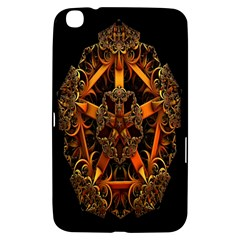 3d Fractal Jewel Gold Images Samsung Galaxy Tab 3 (8 ) T3100 Hardshell Case  by Simbadda