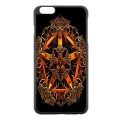 3d Fractal Jewel Gold Images Apple Iphone 6 Plus/6s Plus Black Enamel Case