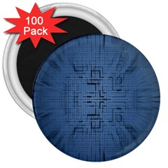 Zoom Digital Background 3  Magnets (100 Pack) by Simbadda