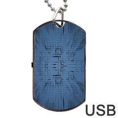 Zoom Digital Background Dog Tag Usb Flash (one Side)