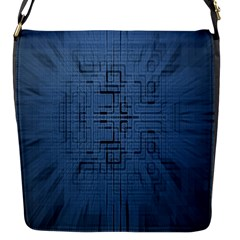 Zoom Digital Background Flap Messenger Bag (s) by Simbadda