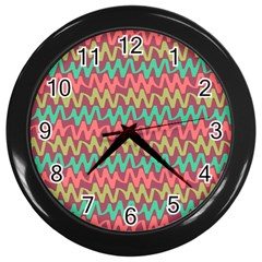Abstract Seamless Abstract Background Pattern Wall Clocks (black) by Simbadda