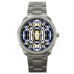 Colorful Seamless Pattern Vibrant Pattern Sport Metal Watch
