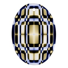 Colorful Seamless Pattern Vibrant Pattern Oval Ornament (two Sides)