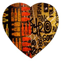 Graffiti Bottle Art Jigsaw Puzzle (heart) by Simbadda