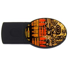 Graffiti Bottle Art Usb Flash Drive Oval (4 Gb) by Simbadda