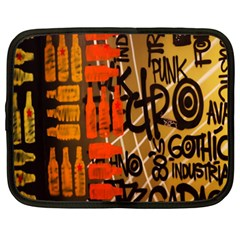 Graffiti Bottle Art Netbook Case (xxl)  by Simbadda