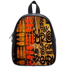 Graffiti Bottle Art School Bags (small)  by Simbadda