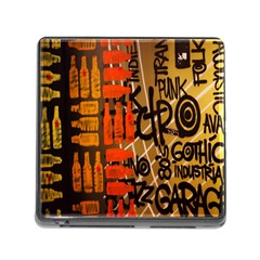 Graffiti Bottle Art Memory Card Reader (square) by Simbadda