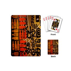 Graffiti Bottle Art Playing Cards (mini)  by Simbadda