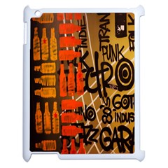 Graffiti Bottle Art Apple Ipad 2 Case (white) by Simbadda