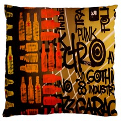 Graffiti Bottle Art Large Cushion Case (one Side) by Simbadda