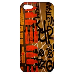 Graffiti Bottle Art Apple Iphone 5 Hardshell Case by Simbadda
