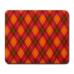 Argyle Pattern Background Wallpaper In Brown Orange And Red Large Mousepads