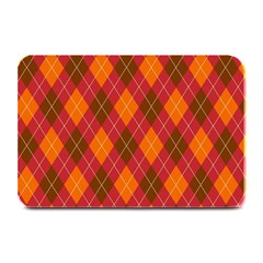 Argyle Pattern Background Wallpaper In Brown Orange And Red Plate Mats by Simbadda