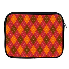 Argyle Pattern Background Wallpaper In Brown Orange And Red Apple Ipad 2/3/4 Zipper Cases by Simbadda