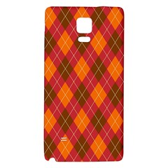 Argyle Pattern Background Wallpaper In Brown Orange And Red Galaxy Note 4 Back Case by Simbadda