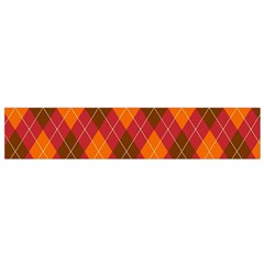 Argyle Pattern Background Wallpaper In Brown Orange And Red Flano Scarf (small) by Simbadda