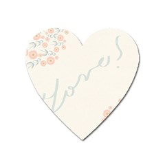 Love Card Flowers Heart Magnet by Simbadda