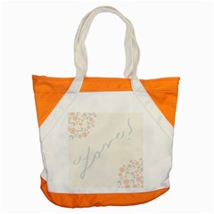 Love Card Flowers Accent Tote Bag by Simbadda