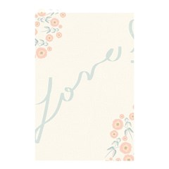 Love Card Flowers Shower Curtain 48  X 72  (small)  by Simbadda