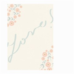 Love Card Flowers Small Garden Flag (two Sides) by Simbadda