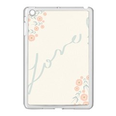 Love Card Flowers Apple Ipad Mini Case (white) by Simbadda