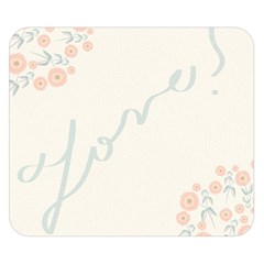Love Card Flowers Double Sided Flano Blanket (small)  by Simbadda
