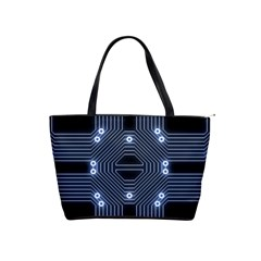 A Completely Seamless Tile Able Techy Circuit Background Shoulder Handbags by Simbadda