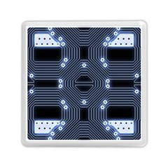 A Completely Seamless Tile Able Techy Circuit Background Memory Card Reader (square)