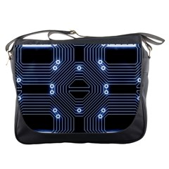 A Completely Seamless Tile Able Techy Circuit Background Messenger Bags