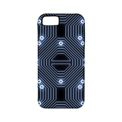 A Completely Seamless Tile Able Techy Circuit Background Apple Iphone 5 Classic Hardshell Case (pc+silicone) by Simbadda