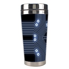 A Completely Seamless Tile Able Techy Circuit Background Stainless Steel Travel Tumblers by Simbadda