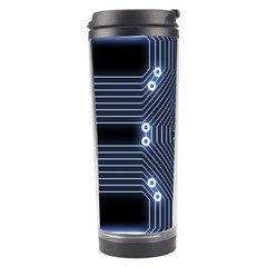 A Completely Seamless Tile Able Techy Circuit Background Travel Tumbler by Simbadda