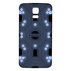 A Completely Seamless Tile Able Techy Circuit Background Samsung Galaxy S5 Back Case (white)