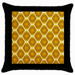 Snake Abstract Background Pattern Throw Pillow Case (black) by Simbadda