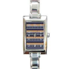 Seamless Abstract Elegant Background Pattern Rectangle Italian Charm Watch