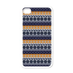 Seamless Abstract Elegant Background Pattern Apple Iphone 4 Case (white) by Simbadda