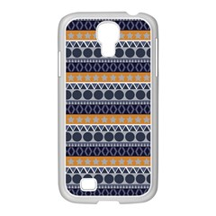 Seamless Abstract Elegant Background Pattern Samsung Galaxy S4 I9500/ I9505 Case (white) by Simbadda