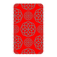 Geometric Circles Seamless Pattern On Red Background Memory Card Reader by Simbadda