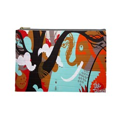Colorful Graffiti In Amsterdam Cosmetic Bag (large)  by Simbadda