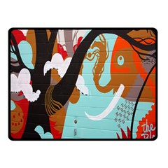 Colorful Graffiti In Amsterdam Fleece Blanket (small) by Simbadda