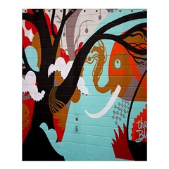 Colorful Graffiti In Amsterdam Shower Curtain 60  X 72  (medium)  by Simbadda