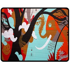 Colorful Graffiti In Amsterdam Double Sided Fleece Blanket (medium)