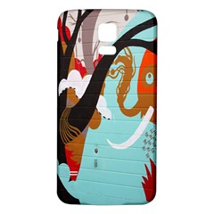 Colorful Graffiti In Amsterdam Samsung Galaxy S5 Back Case (white) by Simbadda